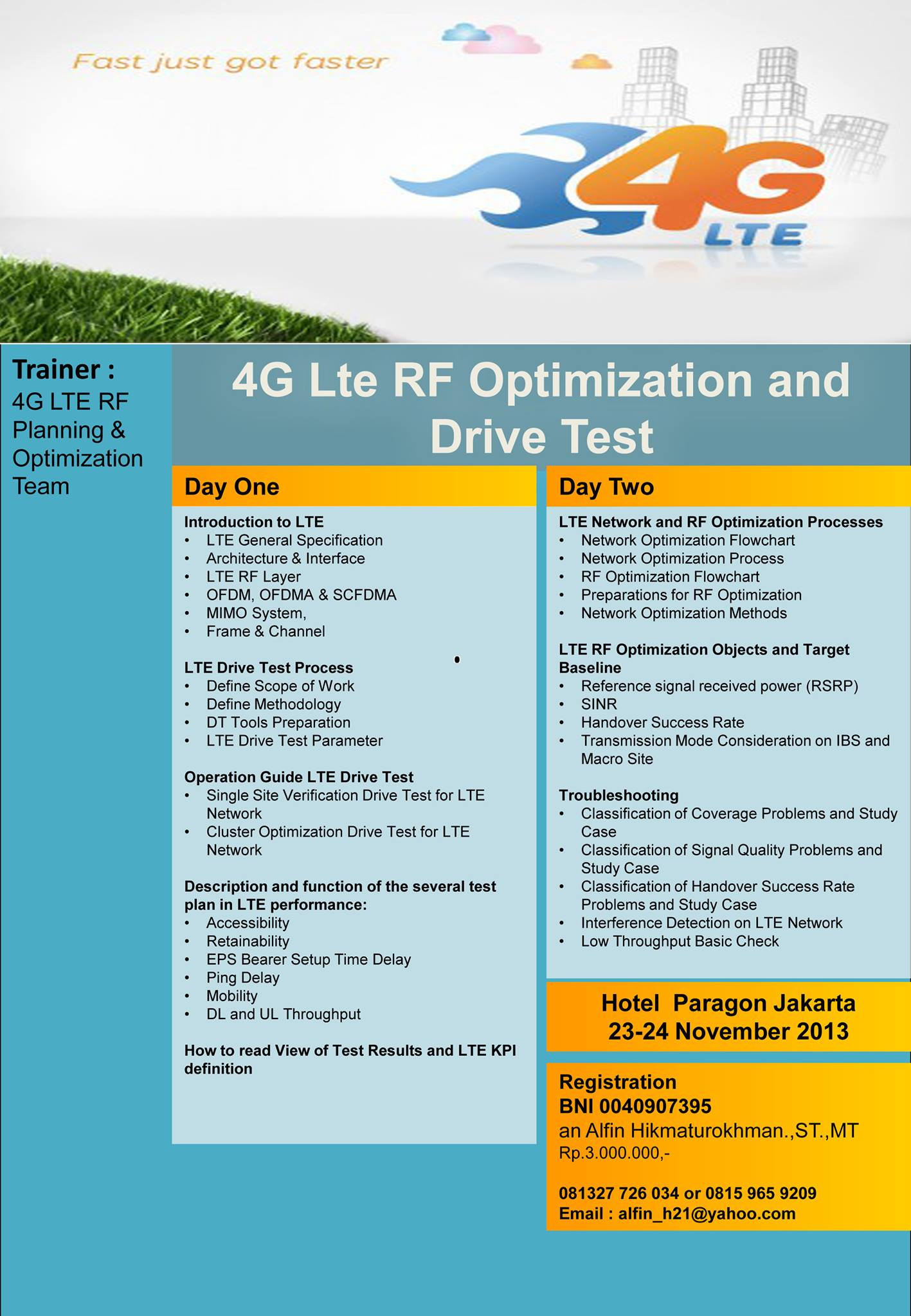4G LTE RF Optimization and Drive Test