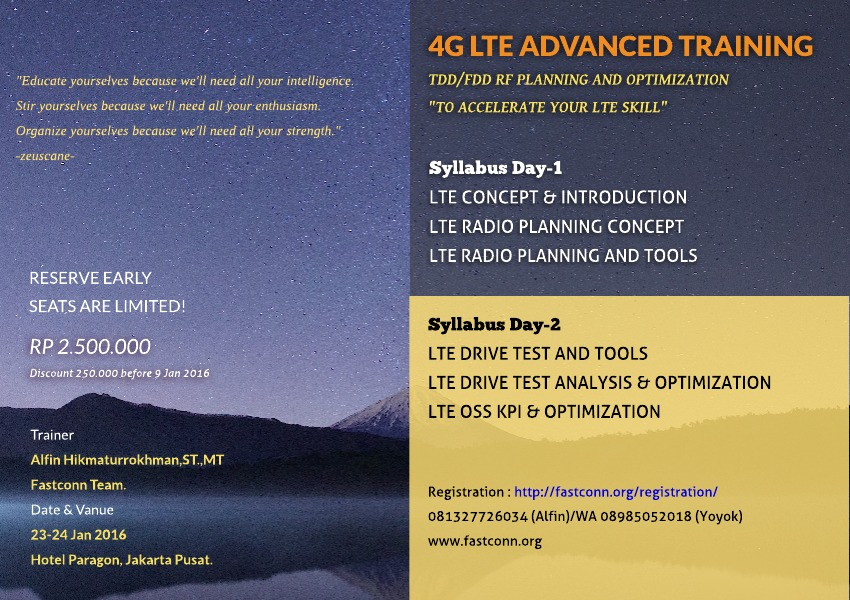 4G LTE Advanced Training, TDD/FDD RF Planning and